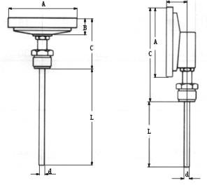 双金属温度计轴向、径向型