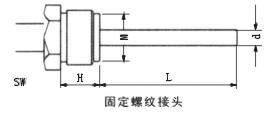双金属温度计固定螺纹管接头